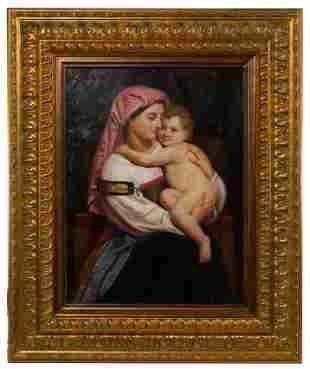 R. Douglas after William Bouguereau 'Woman of Cervara