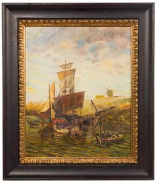 St. Muller (European) Oil on Canvas