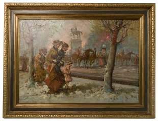 Tommaso Principe (Italian, b.1942) Oil Painting