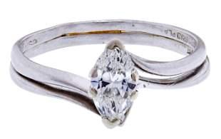 Platinum and Diamond Engagement and Wedding Ring