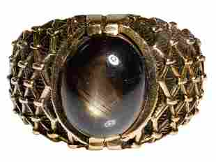 14k Yellow Gold and Cat Eye Ring