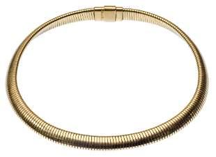 Forstner 14k Yellow Gold Omega Stretch Choker Necklace