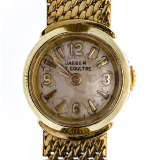 Jaeger LeCoultre 18k Yellow Gold Case and Band Wrist