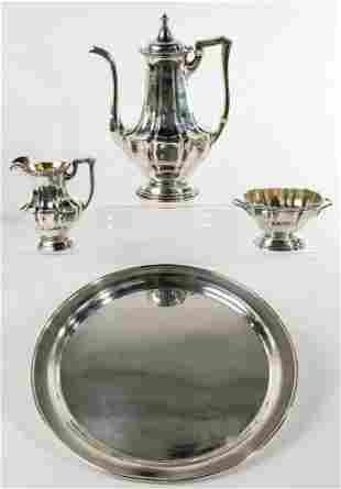 Gorham Sterling Silver Tea Service with Tray