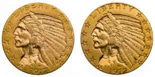 1912 $5 Gold AU/BU