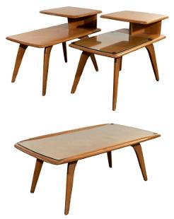 Heywood Wakefield Yellow Birch End and Coffee Table