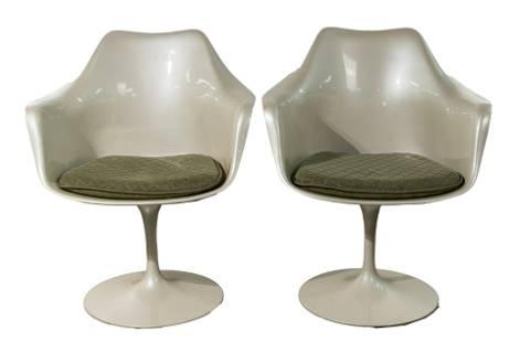 Eero Saarinen for Knoll Tulip Arm Chairs