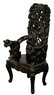 Japanese Carved Monkey Chair
