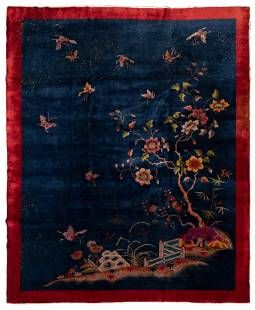 Chinese Art Deco Wool Area Rug