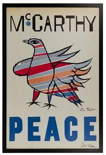 Ben Shahn (American, 1898-1969) 'McCarthy Peace'
