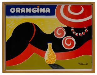 Bernard Villemot (French, 1911-1989) 'Orangina' Poster