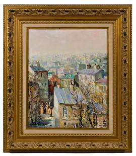Lucien Delarue (French, 1925-2011) 'Parisian View' Oil