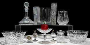 Waterford, Crystal and Art Glass Assortment