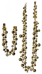 Orlandini 18k Bi-Color Gold Necklace and Bracelet