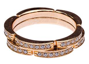 Cartier 18k Rose Gold and Diamond 'Maillon Panthere'