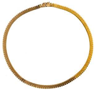 18k Yellow Gold Choker Necklace