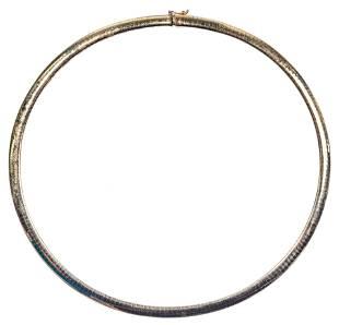14k Yellow Gold Omega Choker Necklace
