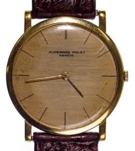 Geneve Audemars Piguet 18kt Yellow Gold Case Wrist