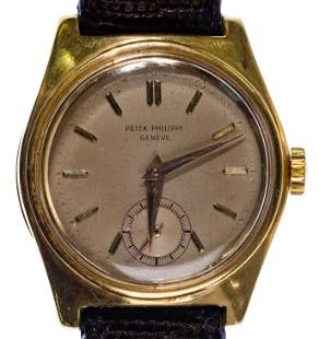 Patek Phillipe 18k Yellow Gold Case 'Caltrava' Wrist