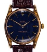 Rolex 18k Yellow Gold Case Oyster Perpetual Wrist Watch