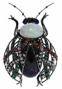 Iradj Moini Beetle Brooch
