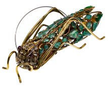 Iradj Moini Grasshopper Brooch