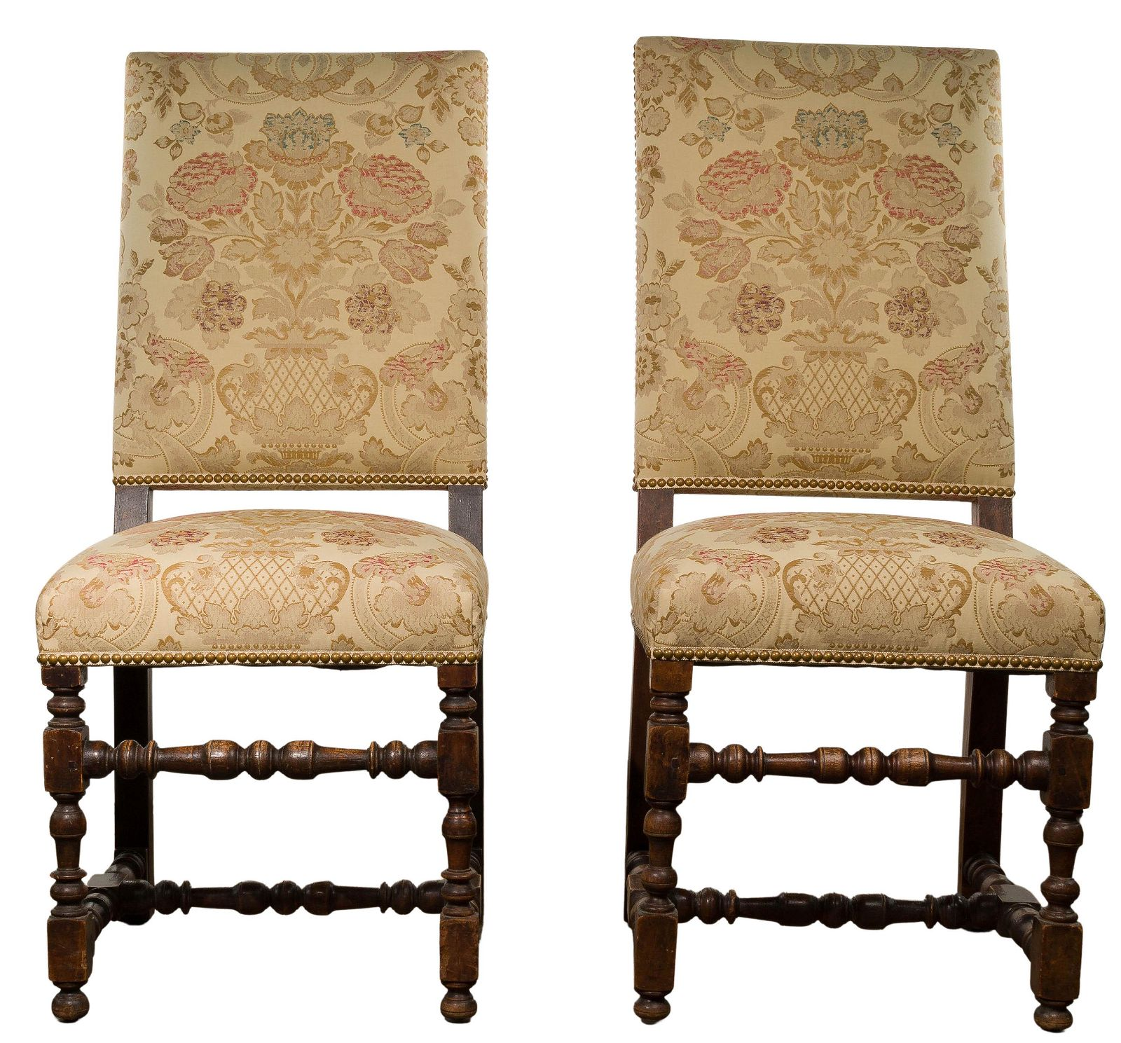 Mahogany Framed Upholstered Chairs