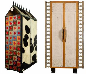 Primitive Folk Art Cabinet Assortment