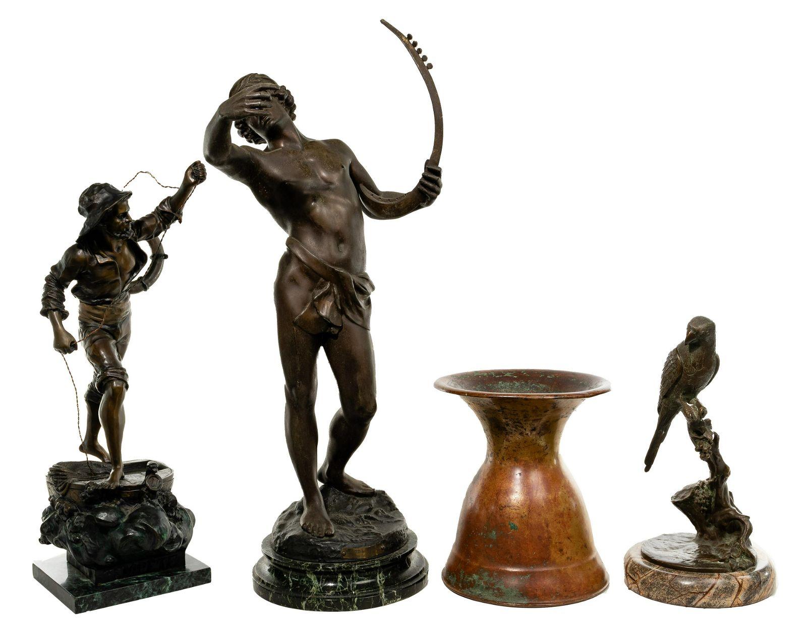 Sculpture and Spittoon Assortment