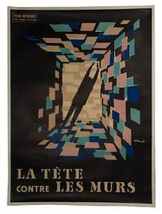 Bernard Villemot (French, 1911-1989) 'La Tete Contre