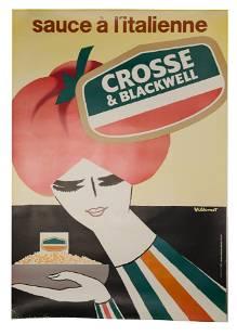 Bernard Villemot (French, 1911-1989) 'Sauce a