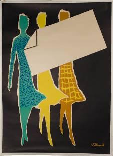 Bernard Villemot (French, 1911-1989) Lithograph Poster