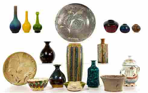 Asian and Art Pottery and Porcelain Assortment