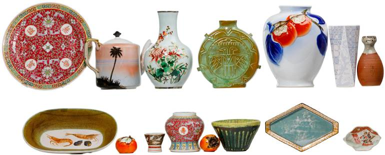 Asian and English Pottery and Porcelain Assortment