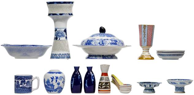 Asian Blue and White China Assortment