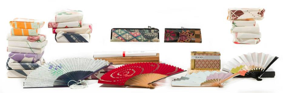 Japanese Coin Purse, Fan and Mirror Assortment