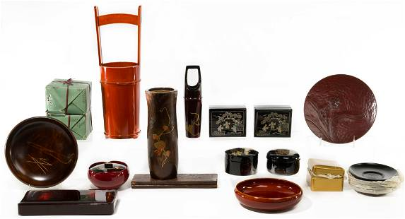 Japanese Lacquerware and Wood Assortment