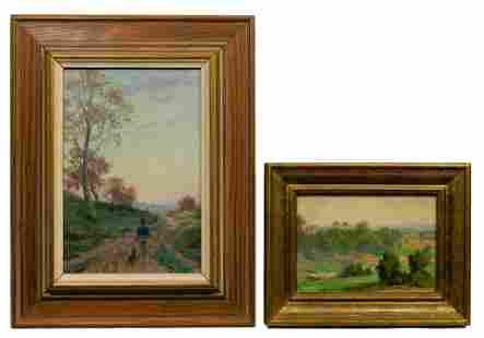 Edgar Spier Cameron (American, 1862-1944) Oils on Panel