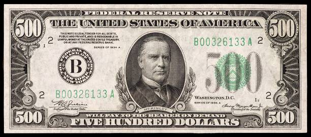 1934-A $500 New York Federal Reserve Note AU+