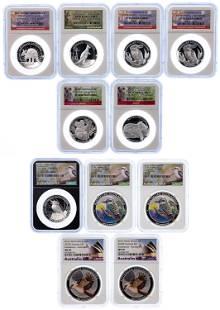 Australian: Silver $1 NGC Graded Assortment
