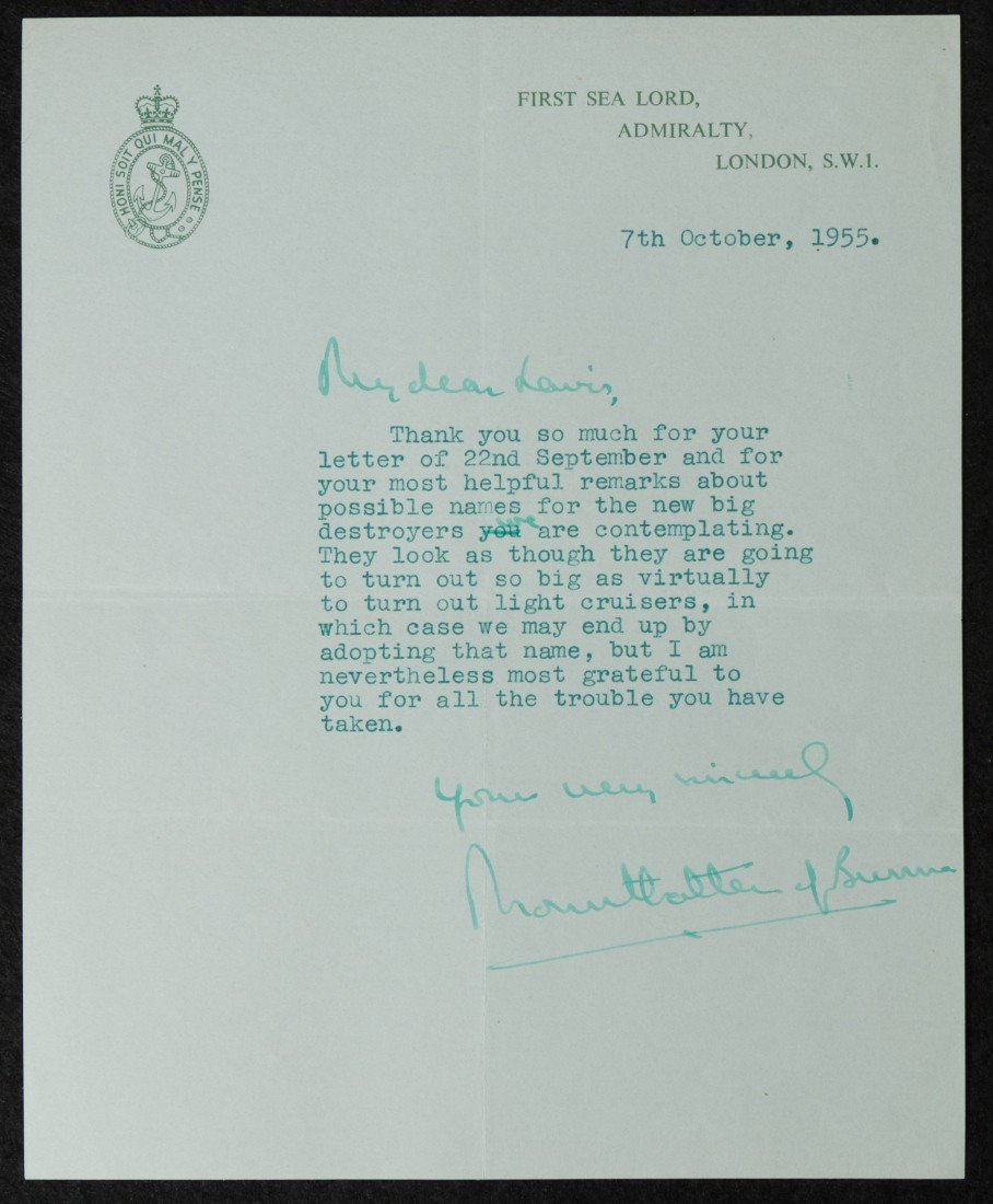 2: (Louis) Mountbatten of Burma, Admiral of the Fleet,