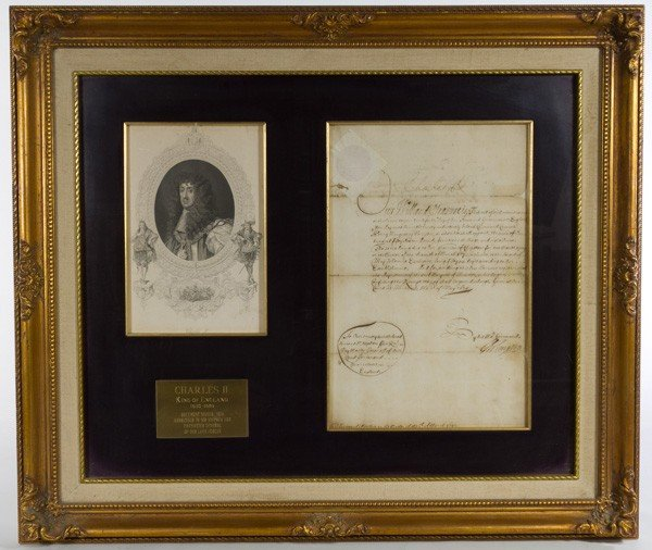 3: Charles II, King of England, Signed Document