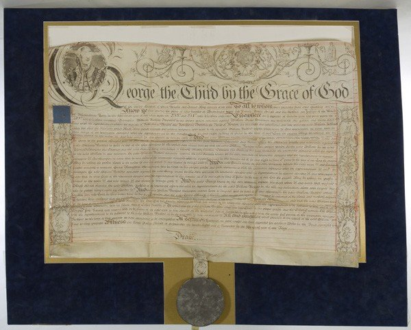 4: Large George III, King of England, Writ Document wit