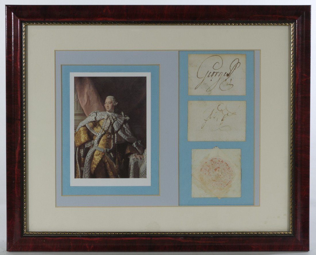8: George III, King of England, Signed Documents