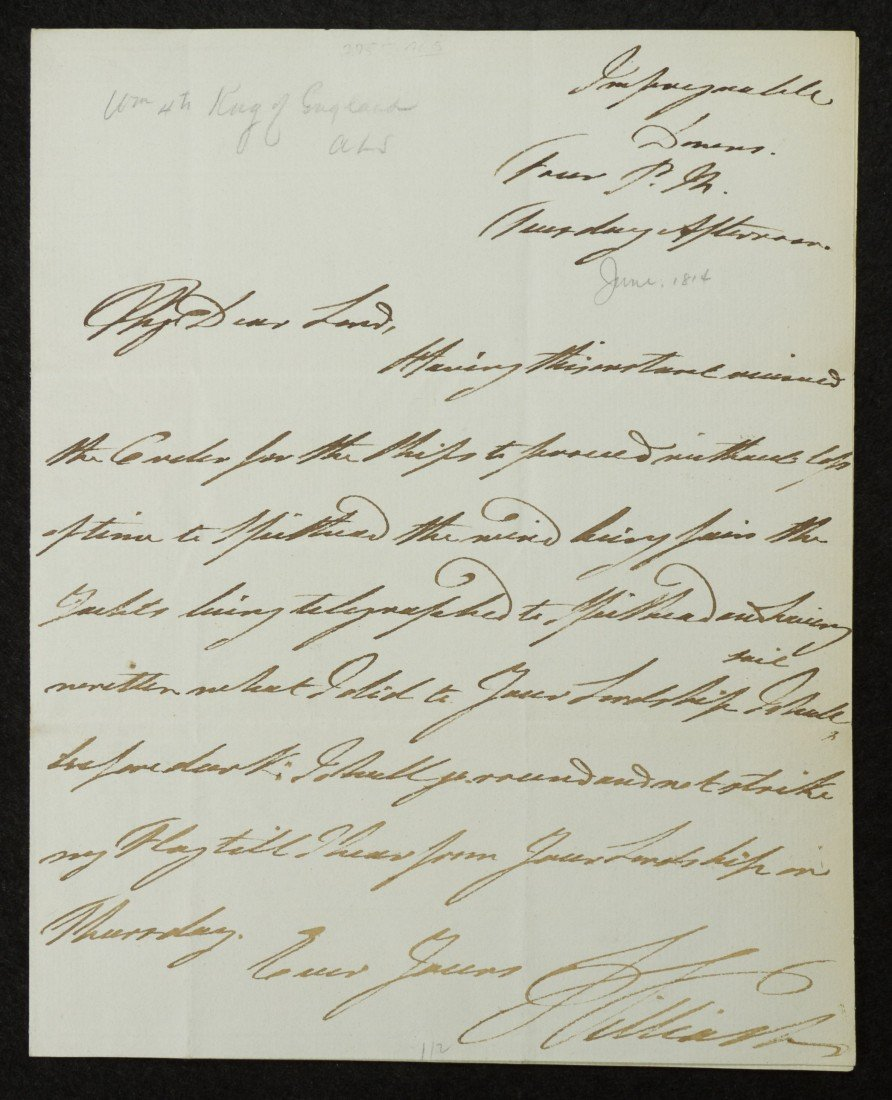 10: William IV, King of England, Signed Letter