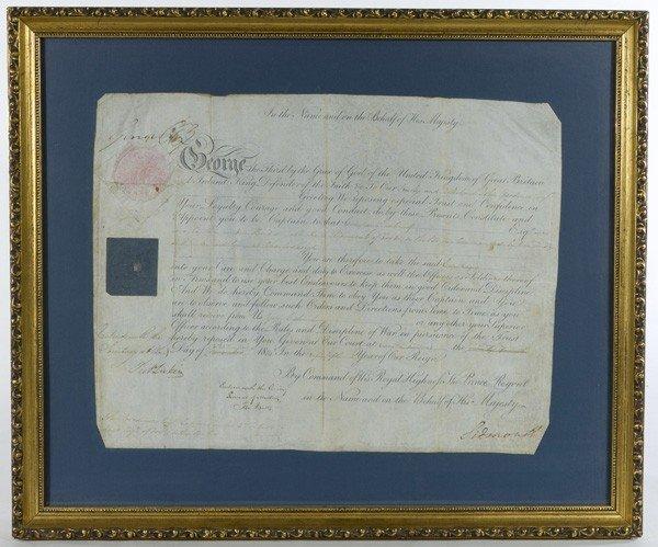 11: George IV, King of England, Signed Military Documen