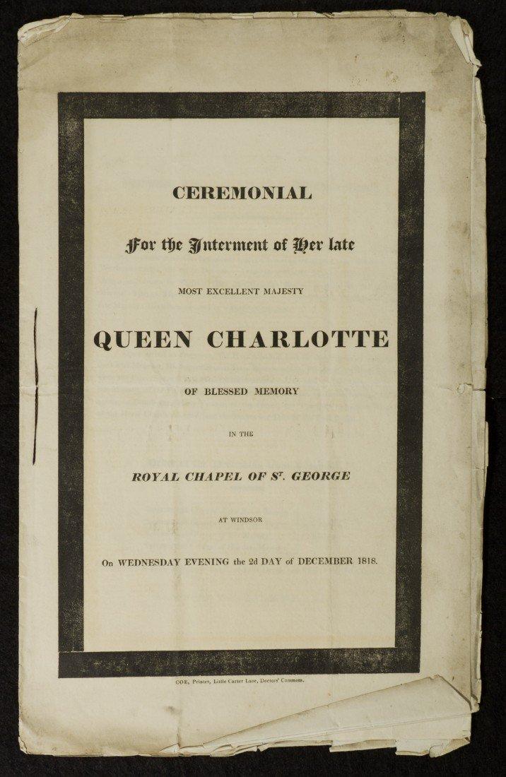 15: Queen Charlotte Interment Document