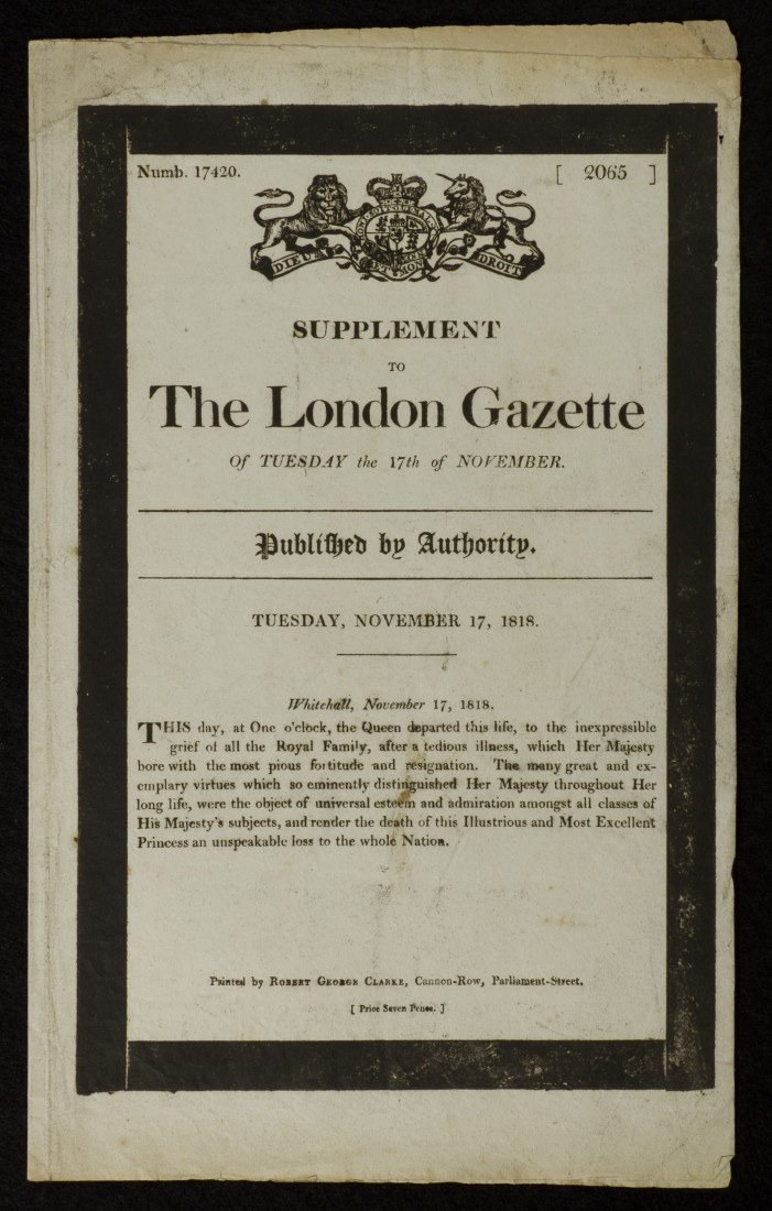 16: The London Gazette, Supplement, November 17 and Dec