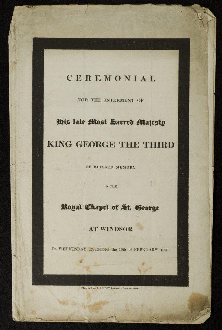 18: King George III Interment Document