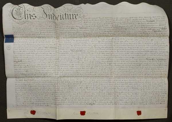 21: Original Indenture From England